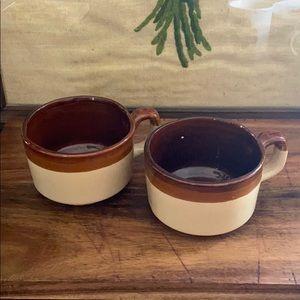 2 dipped ceramic mugs